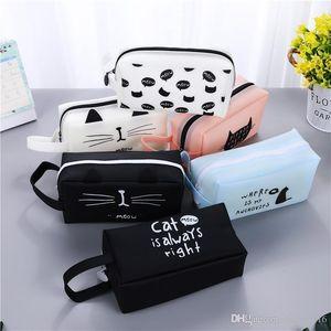 Симпатичный мультфильм Пенал большой емкости Школа Pen Box Cute Творческий Cat Чехлы сумки Офис Школа Стационарные принадлежности