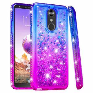 Per LG Stylo 4 5 V50 G8 G8s ThinQ K40 Q7 Plus V40 G7 Custodia Glitter Quicksand Liquid Sparkle Shiny Bling Diamond Cover