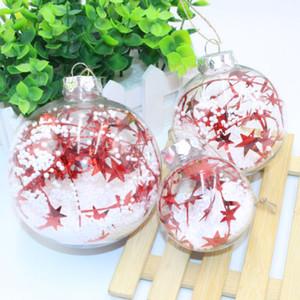Joyeux Noël Noël 1PCS clair Boules Babioles Boîte Sphère bricolage Arbre de Noël Décor ornement présent cadeau pour la nouvelle année