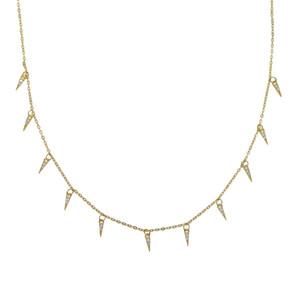 100% 925 sterling silver tassel brilhante cz triângulo chocker colar mulheres delicadas bala geométrica colares jóias 35 + 10 cm