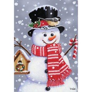 1 개 크리스마스 산타 클로스 순록 눈사람 정원 플래그 실내 야외 홈 장식 겨울 눈송이 축제 파티