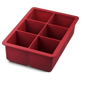 """2020011050 Inch Large King Craft Ice Mold Freezer Tray of 2"""" Cubes for Whiskey, Bourbon, Spirits & Liquor Drinks, BPA-Free Silicone"""