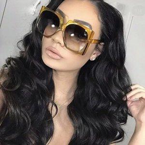 Frame Sunglasses Popular New Vintage Trendy Glasses Designer Luxury 2018 Oversized Fashion Square Sun Big Women UV400 Osckr