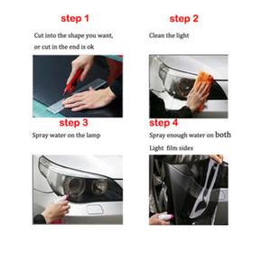 CAR Practical Auto Smoke Fog Headlight Taillight Tint Vinyl Wrap Film Sheet Sticker