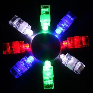 4pcs / set Finger luce della barretta lucido Neon Stick laser irradia la luminosa LED colorato giocattolo Glow danza giocattolo Shinning Anello Supply Partito VT0101