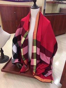 Модная новая женская классическая клетчатая женская и мужская длинная мягкая шерстяная шаль шелковый шарф весной осенью зимой