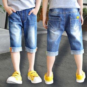 Famli Boys Jean Şort Yaz Çocuklar Moda Denim Yumuşak Pamuk Kot Pantolon Genç Çocuklar Kısa Düz Pantolon 6-14y Y19051504