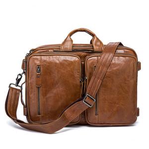 Porte-documents en cuir de vachette HBP HBP hommes véritables sacs à main en cuir BANDBOY SACS HAUT QUALITE Messenger Busenger Sacs Ordinateur portable