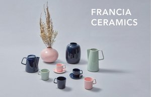 FRANCIA coffee cup and saucer set