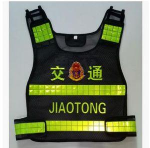 Üreticileri toptan güvenlik kıyafetleri yansıtıcı yelek floresan trafik Yelek siyah yansıtıcı giyim mesh stokta mevcut