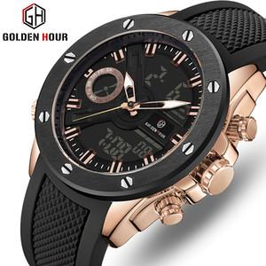 Reloj Hombre Top Marque de luxe Montre Homme Quartz heure dorée automatique Sport numérique Man Army Military Montre 2019 Relogio Masculino