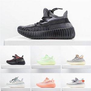 2020 bebê miúdo miúdos argila V2 Running Shoes Kanye West Blakc estática 3M reflexiva Zebra Beluga 2,0 Boy menina do esporte das sapatilhas Tim Trainers 28B3 # 333