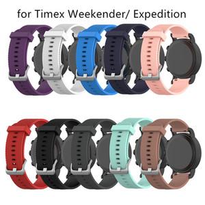 Nouveau mode Small / Large remplacement sport silicone montre bracelet bracelet Timex Weekender / Expedition intelligente accessoires de montre Wearable