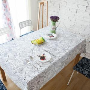 Rectangulaire blanche WithMe Feuilles Décorations pour Tablecloth Accueil café Table à manger Bureau de massage Nappes sur la table couvre