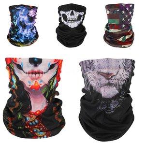 Skull Clown Seamless Magic Neck Gaiter Face Shield Warm Outdoor Cycling Fishing Biker Bandana Letter Headband Skull Scarf Men W #766#538