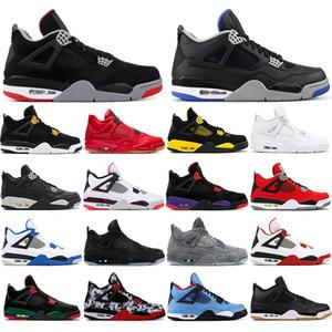 Nike AIR Jordan 4 con i calzini liberi 2020 4s calza gli uomini di pallacanestro 4 del tatuaggio BRED Pizzeria Black Singles Day ROYALTY OREO Designer formatori Sport Sneakers