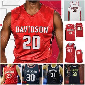Individuelle Davidson Wildcats Basketball Jersey NCAA Curry Kellan Grady Jon Axel Gudmundsson Luka Brajkovic Luke Frampton