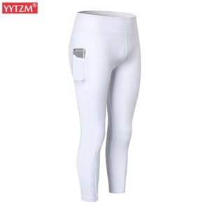 New Solid Cropped Trousers Tight Yoga Bottom Side Pockets Women Mesh Leggings Fitness Running Elastic force Quick dry Cycling