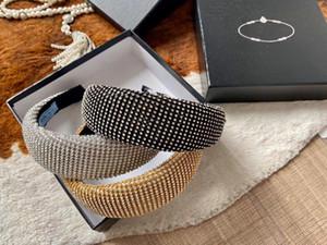bandas New Designers strass Mulheres Carneiras Cabelo Marcas Meninas P Cabelo Scarf Acessórios Cabelo presentes a melhor qualidade headwraps H457