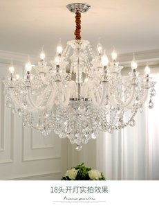 Living room crystal chandeliers  atmosphere home warm bedroom light led simple rectangular dining room chandelier