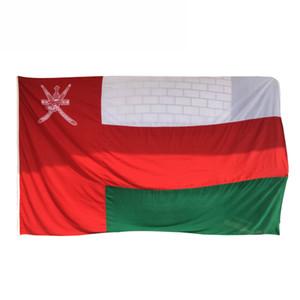 3x5 Oman bandiera della bandierina di alta qualità Banner Outdoor Indoor 90x150cm poliestere, più la bandiera popolare, il trasporto libero