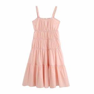Holiday style waist Ruffle lace dress y2313