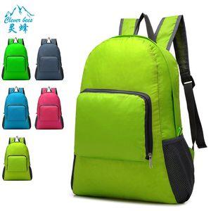Bagagli e borse pacchetto pelle può accettare Piegare entrambe le spalle pacchetto esterna impermeabile alpinismo zaino da viaggio