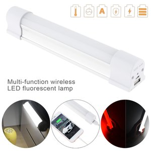 Camping Light Multi-function Wireless LED Fluorescent Lamp Rechargeable with 5 Modes for Outdoor Camping