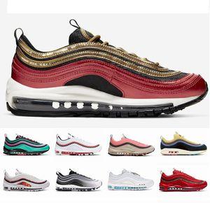 2020 Nouveau MSCHF x INRI Jésus chaussures running hommes femmes 97s Black Bullet Red Leopard argent baskets de sport mens Bullet 36-45