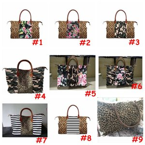 9 Styles Weekend Bags Camouflage Printed Handtaschen Seesack CamoTravel Tasche Mädchen große Kapazitäts-Handtaschen mit Meer Versand CCA12135 100pcs