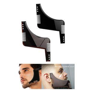 2pcs Double-sided Beard Shaping Tool Shaper Beard Comb For Salon Barber