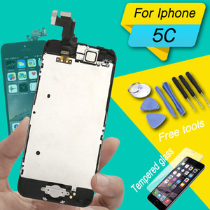 display screen for iphone 5c lcd full assembly with home button and camera full set for iphone 5 5s 5c lcd dispaly complete