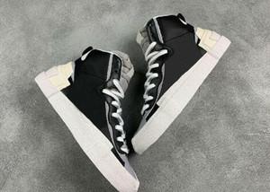 Sacai X Blazer Mid avec les chaussures Designer Dunk High Cut Hommes Blanc Noir Légende Bleu Plage Neige course pour homme Casual Shoes
