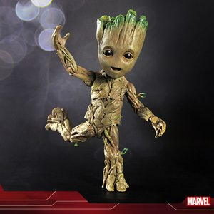 26cm Marvel Legends Guardians of the Galaxy Tree Man Groot Action Figure Cos Thor God Of Thunder groot flower pot PVC Toys Decoration