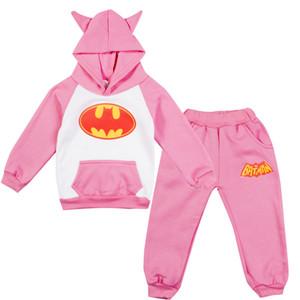 Crianças Crianças Baby Girl Boy bonito Carton mangas compridas Tops com capuz + calça 2pcs Casual Quente Outfits Set Sportwear