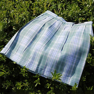 Check Pattern Uniform Cosplay Pleat Plaid Skirts Fashion Mini Homecoming Skirt A Line JK04 Party Cocktail Dress Knee Length Girls Dresses