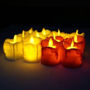 LED беспламенной свечи чай свет Свеча Tealight батареи Operate свечи лампы Свадьба День Рождения Новогоднее украшение VT1722