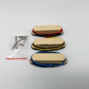 Guitar Pickups SSS Single coil Vintage Alnico pickups for ST Milk yellow Neck Middle Bridge set