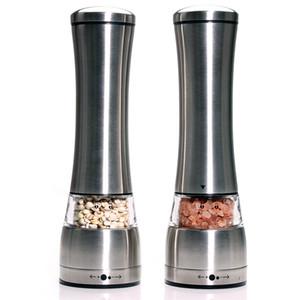Leeseph acciaio inossidabile Sale e Pepe smerigliatrice insieme di 2, Mill Shakers con regolazione manuale in ceramica rotore-cucina accessori T200323