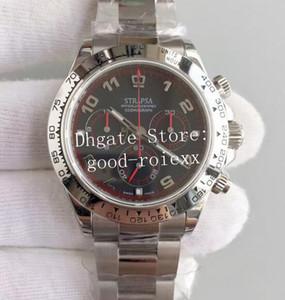 Мужские хронографы с автоподзаводом 7750 Eta Мужские часы 28800 Vph Valjoux 116509 Космограф 116500 Часы 116599 Черные наручные часы