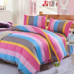 Novos Conjuntos de cama Imprimir Soft Floral Bed Quilt Duvet Cover Set Rainha Rei acolchoado fronha conjunto de folhas simples Estilo cama Set