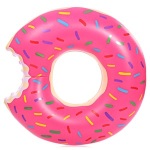 Summer Inflatable Air Inflation Mattresses Circle Cute Doughnut Gigantic Swimming Floating with Pump Adult Row Pool Toy for Water Game