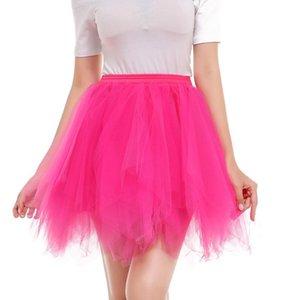 ألوان الحلوى تنورة قصيرة صغيرة للنساء تنورة تلول نساء الصيف tutu tulle صلب صغير jupe femme # 3