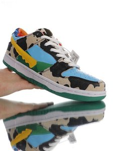 """2019 new designer Ben & Jerr's x SB Dunk """"CHUNKY DUNKY"""" running shoes blue and green Athletic Skateboarding sports Trainers xshfbcl"""