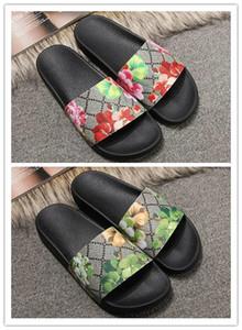 Frauen der Männer Sandalen Designer-Schuhe zzx1 Luxus Slide Summer Fashion Breitflach Slippery Sandalen Slipper Flip Flop Größe 35-46 Blumenkasten c09