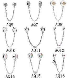 Catena di sicurezza Charms Perline Adatto Pandora Bracciali Autentico 925 gioielli in argento sterling Accessori moda gioielli fai da te