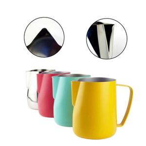 Espuma de acero inoxidable Jarra de café Jarra de leche Espumador Latte Art Leche herramienta de espuma Coffeeware Latte Acero inoxidable Jarra para expreso