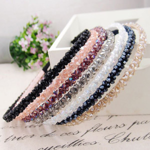 Fashion Shinny Crystal Hairbands Beaded Hair Hoop 2019 New Diamond Hair Band per donna Rhinestone Fandbands Accessori
