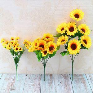 Artificial Silk Flower Sunflower bouquet Daisy Home Garden wedding Table DIY simulation Decorative Flowers accessorie plant