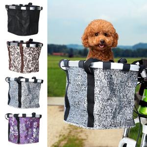 Pet Сумка велосипедов Корзина Чехол для собак Pet Cat велосипеда сумки из алюминиевого сплава Передних велосипедов Сумки Кошки Собака сиденье